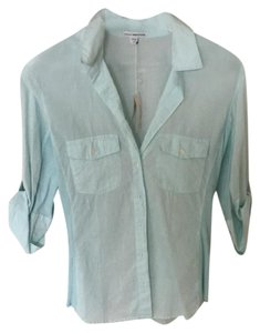 James Perse Button Down Shirt turquoise