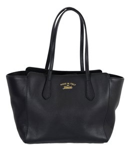Gucci 354408 Swing Leather Tote in Black