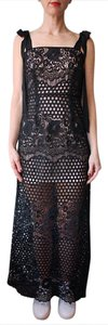 alice McCALL Lace Crocheted Maxi Sheath Dress