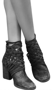 Free People New Woven Woven Black Boots