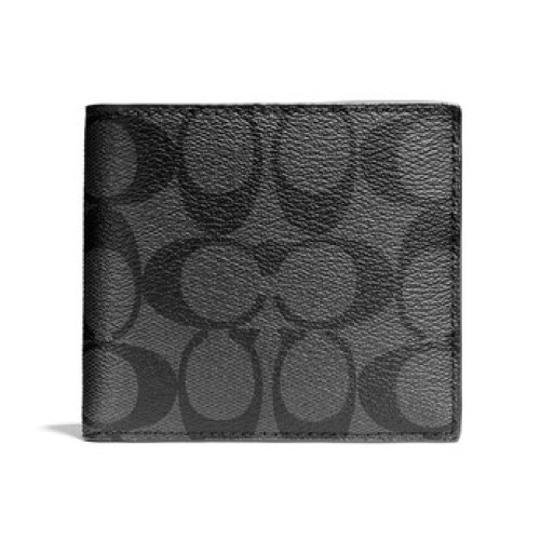 Preload https://img-static.tradesy.com/item/20811999/coach-charcoalblack-double-billfold-in-signature-wallet-0-0-540-540.jpg