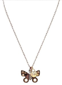 Coach coach 2 tone butterfly necklace nwt