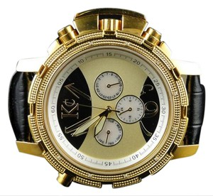 Techno Com by KC New Mens Techno Com Kc/Jojo/Joe Rodeo Aqua Master Gold Diamond Watch