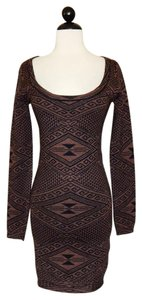 Rachel Pally short dress Black / Brown Sweater Knit Jacquard Stretchy on Tradesy