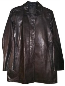Coach Leather Pre-owned Trench Coat