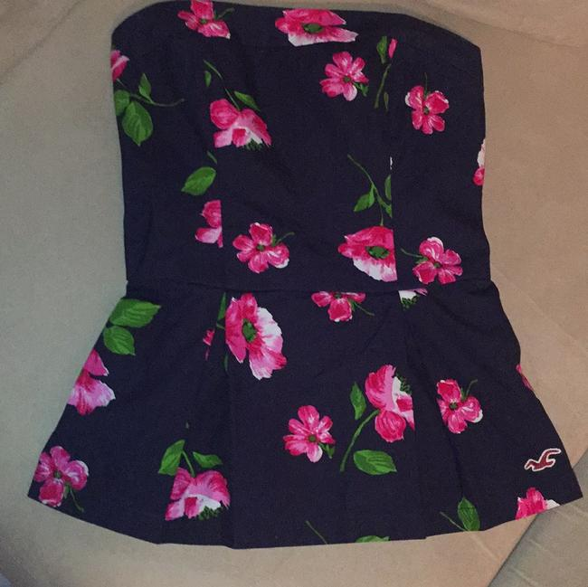 Hollister Top Navy, Pink, Green, White
