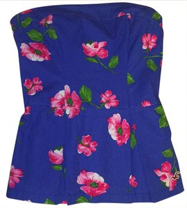 Hollister Top Royal Blue, Pink, Green, White