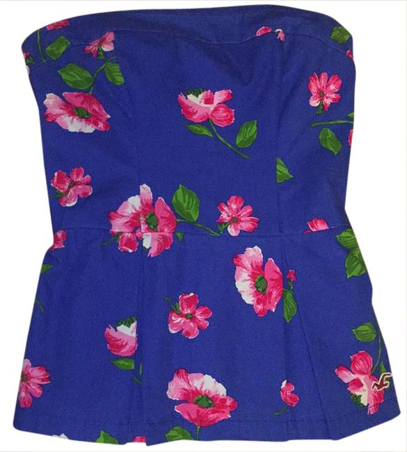 Preload https://img-static.tradesy.com/item/20812255/hollister-royal-blue-pink-green-white-adorable-strapless-spring-and-summer-top-blouse-size-2-xs-0-1-650-650.jpg