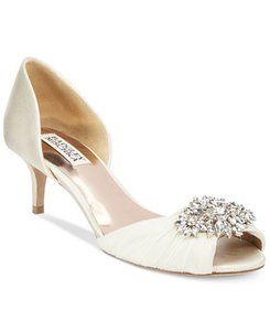 Badgley Mischka Caitlin D'orsay Decorated Evening Shoe Wedding Shoes