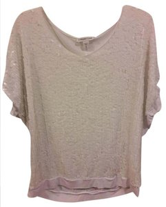 Coldwater Creek Sequin Top Ivory