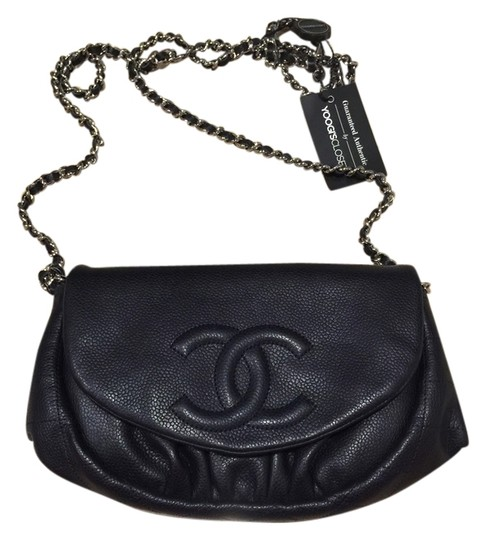 Chanel Half Moon Caviar Cross Body Bag