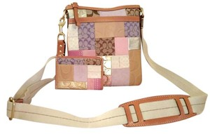 Coach Patchwork Id Card Keychain Coin Cross Body Bag