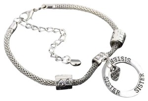Other D28 Sister I Love You Cut Out Circle Heart Charm Bracelet