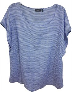 Apt. 9 Polyester Top Blue / White (Zebra Print)
