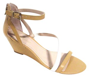 BCBGeneration Leather Summer Spring Color-blocking Mojave/White Sandals