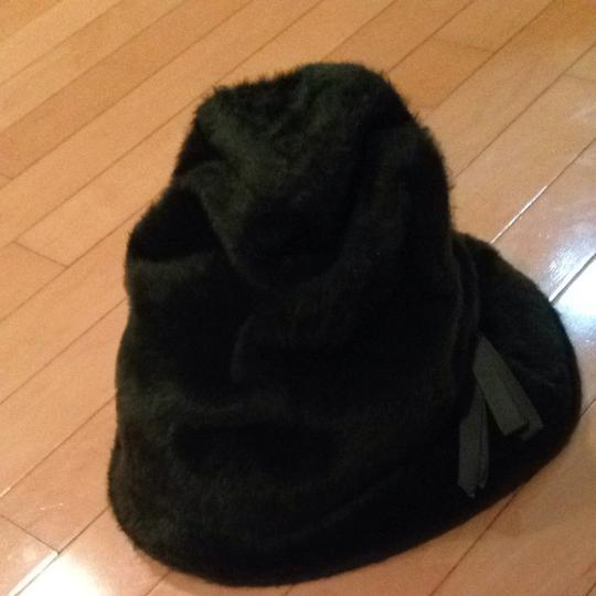 Gertrude Menczer FOREST GREEN FUR (Fake) WITH A TIE ON SIDE