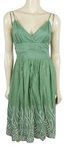 Max Studio short dress light green and white Summer Eyelet Sz M Sz M on Tradesy