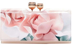 Ted Baker Nwt Rose Printed Leather Wallet