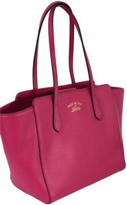 Gucci 354408 Swing Leather Tote in Blossom (pink)