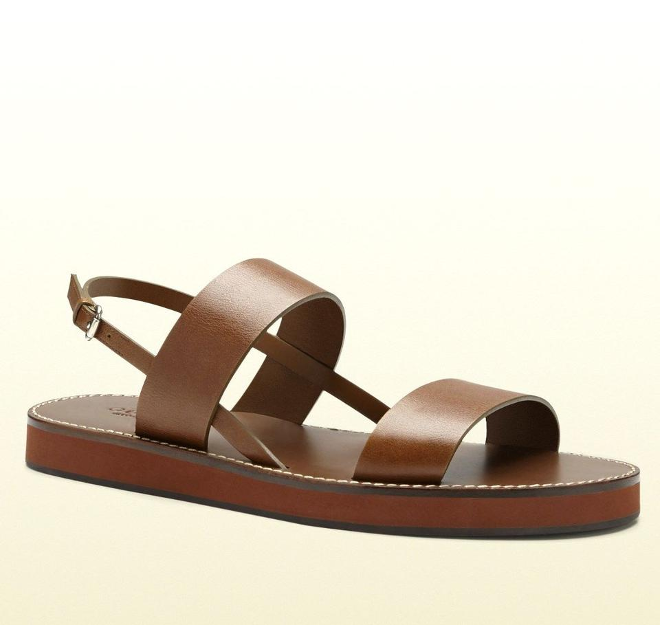 b5aa6f84f Gucci Brown 2535 Men's Leather Sandal 336453 Size 11 G/ Us 11.5 Shoes Image  0 ...