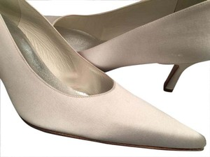 Stuart Weitzman Pointed Toe Off White Pumps