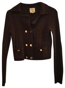 Milly of New York Cropped Gold Buttons Cardigan