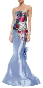 Oscar de la Renta Gown Floralgown Long Dress