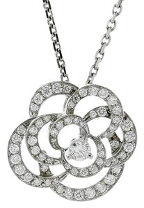 Chanel Chanel Camellia Flower Diamond Necklace