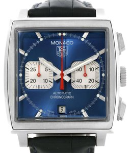 TAG Heuer Tag Heuer Monaco Automatic Chronograph Blue Dial Mens Watch CW2113