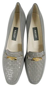 Bally Loafers Moccasins Vanessa Gray Flats