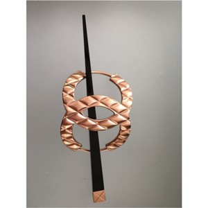 Chanel CHANEL Large QUILTED HAIR PIN - ROSE GOLD - NEW IN BOX