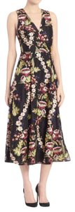 Alice + Olivia Floral Embroidered Midi Sleeveless Dress