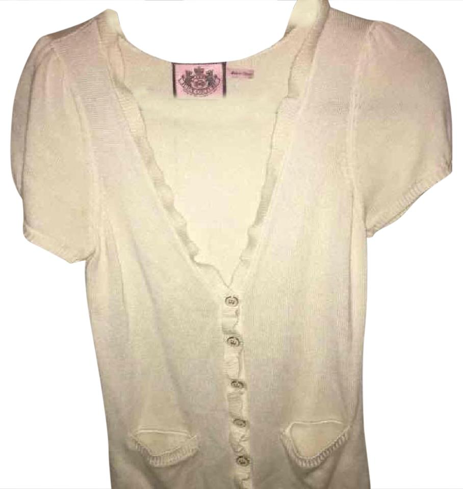 fe7e2e7a04f9 Juicy Couture Short Sleeve Cardigan Cream with White and Gold ...