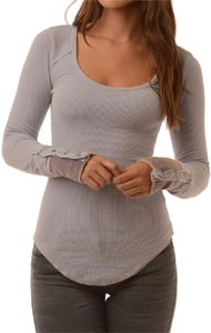 Free People Snap Snap Cuff Thermal Button Sweater