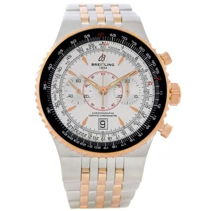Breitling Breitling Montbrillant Legende Steel Rose Gold Silver Dial Watch C2334