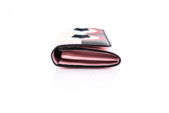 Fendi * Fendi Crayons Continental Wallet In Multicolored Leather