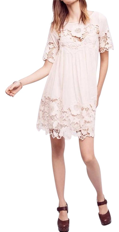 82cefb711455a Anthropologie Cream Magnolia Lace By Holding Horses Short Casual ...
