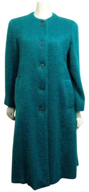 Item - Green Teal Soft Fuzzy Hair Coat Size 8 (M)
