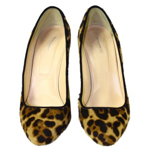 J.Crew Calf Hair Leather Lining Pre-owned Pumps