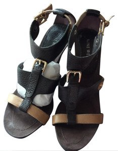 Nine West Brown & tan Sandals