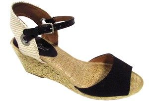 Lucky Brand Espadrilles Sandals Heels Spring Black Wedges