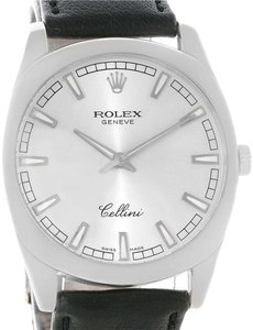 Rolex Rolex Cellini Danaos 18k White Gold Silver Dial Watch 4243 Box