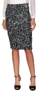 Haute Hippie Evening Sequin Glam Skirt Black, Indigo, Multi-color