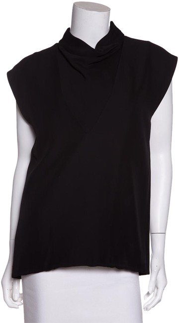 Preload https://img-static.tradesy.com/item/20813385/celine-black-sleeveless-v-cut-and-cowl-neck-night-out-top-size-4-s-0-1-650-650.jpg