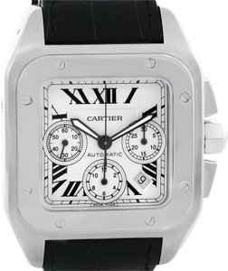 Cartier Cartier Santos 100 X-Large Silver Dial Chronograph Watch W20090X8