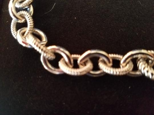 Judith Ripka Judith Ripka Chain Link Smooth& Textured Heavy Sterling Silver Cable