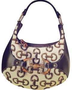 Gucci Leather Hobo Bamboo Shoulder Bag