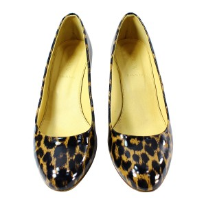 J.Crew Patent Leather Pre-owned Leopard Wedges