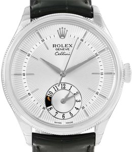 Rolex Rolex Cellini Dual Time White Gold Automatic Watch 50529 Unworn