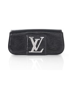 Louis Vuitton Vernis Epi Pochette Sobe Black Clutch